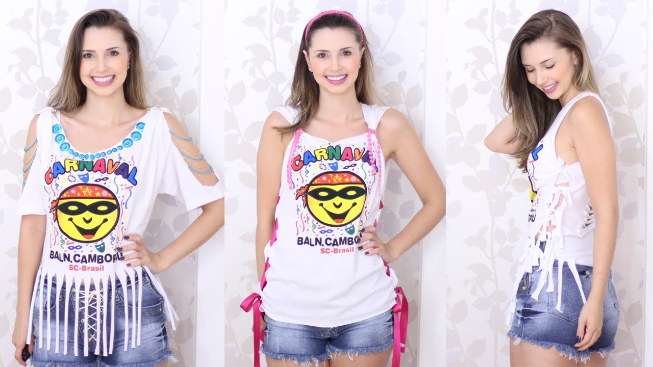 Top DIY - Customizando camisetas para carnaval - Abadás - YouTube UR06