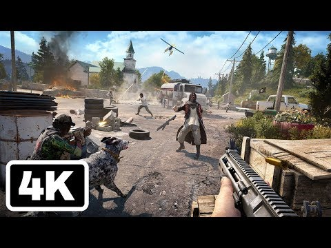 20 Minutes of Far Cry 5 Fly, Fishing, and Killing Gameplay in 4K - PSX 2017
