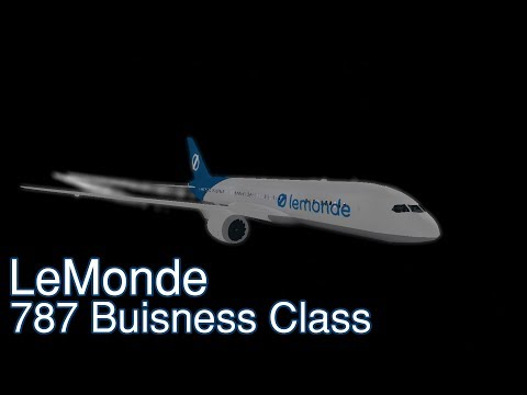 Lemonde Business Class 787 Flight! | Roblox