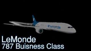 Lemonde Business Class 787 Flight!   Roblox