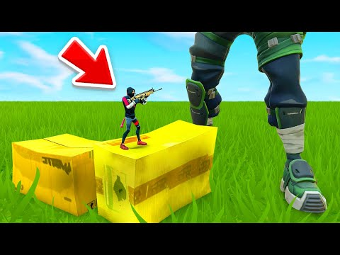 The SHRINKING CHARACTER Glitch In Fortnite...