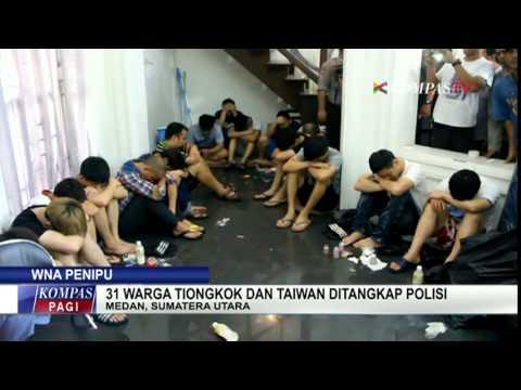 31 Warga Tiongkok & Taiwan Terlibat Penipuan