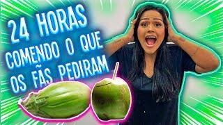 24 HORAS COMENDO O QUE OS FÃS PEDIRAM !!!