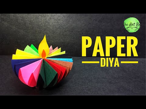 Paper DIYA | make DIYA with paper | DIY paper diya | DIYA decoration