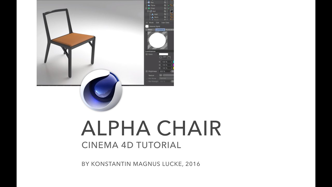 Modeling the alpha chair based on blueprints cinema 4d tutorial modeling the alpha chair based on blueprints cinema 4d tutorial youtube malvernweather Choice Image