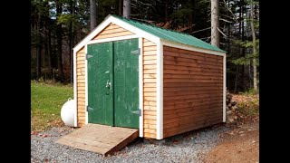 """The Vermonter Shed"" - Basic Affordable Heavy Duty Storage Shed - DIY Pre Cut Kit (8X8 to 10X20)"