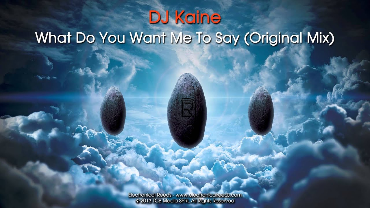 Dj Kaine What Do You Want Me To Say Original Mix Youtube