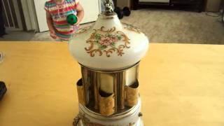 Vintage Reuge / Simo Carousel Musical Cigarette Box