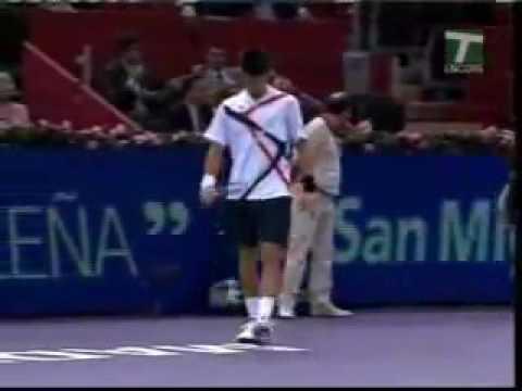Novak Djokovic Hit And Hug A Sexy Ball Girl Youtube