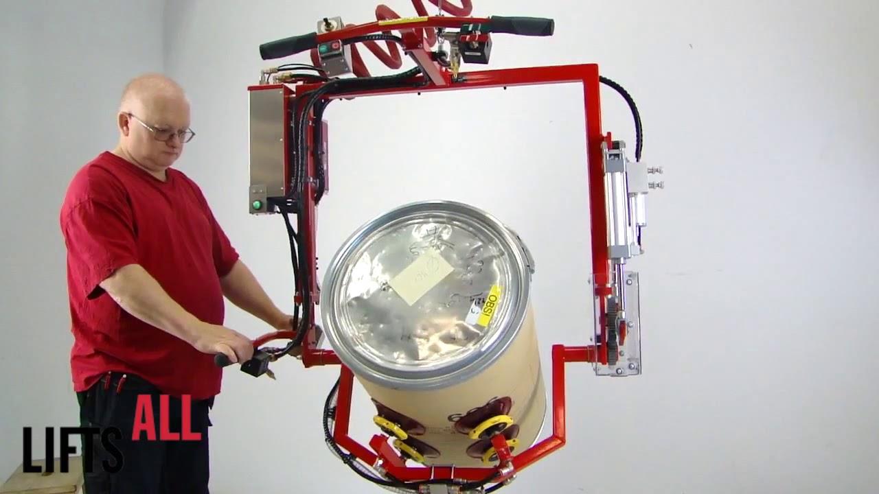 Manipulador de vaciado de bidones
