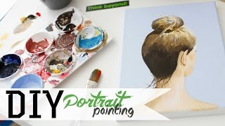 How To Paint - Hair Bun Portrait w/ Acrylics 3/3 | ANNEORSHINE Thumbnail