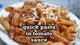 tomato Sauce Pasta Recipe - Easy and Quick Pasta