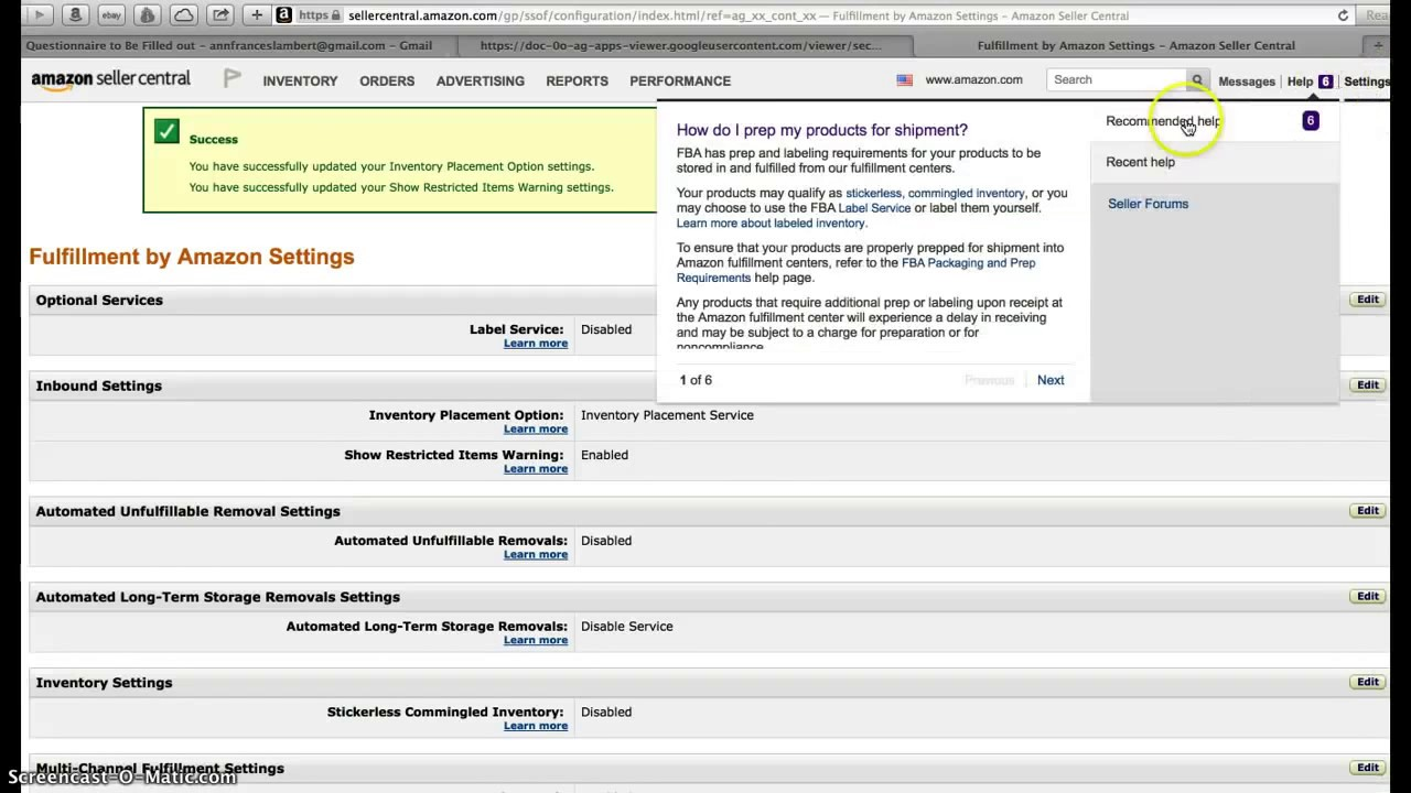How to Drop Ship Your Amazon FBA order to 1 FBA Center