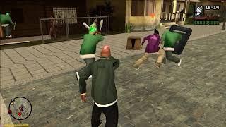 GTA San Andreas - Grove vs Ballas - CLEO