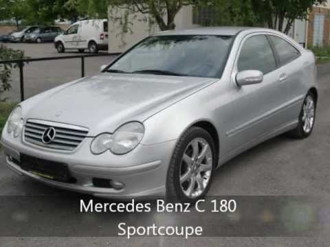 mercedes benz c 180 sportcoupe gebrauchtwagen youtube. Black Bedroom Furniture Sets. Home Design Ideas