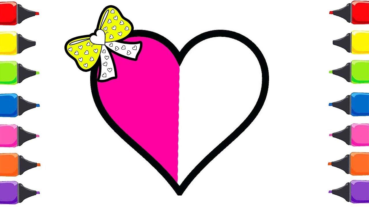 Kalp Boyama çocuklar Için Sanat Renkleri Boyamayı öğrenin