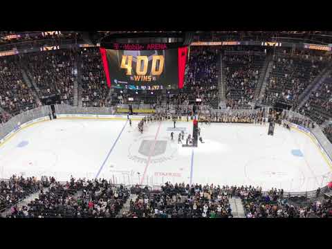 Golden Knights Final Home Game; Awards Ceremony, Shirt Off Player's Backs