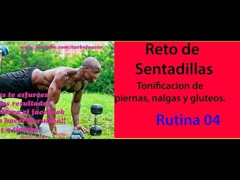 ENDURECER PIERNAS CON  SENTADILLAS  RUTINA 04