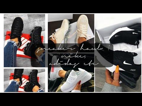 SNEAKER TRY ON HAUL! Nike, Adidas | SayehSharelo♡