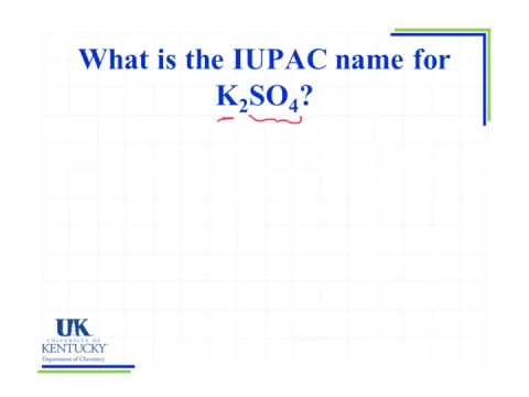 3 03 Iupac Name For K2so4