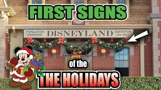 First Signs of the 2019 Holiday Season at the Disneyland Resort! Decorations & Park Update Tour