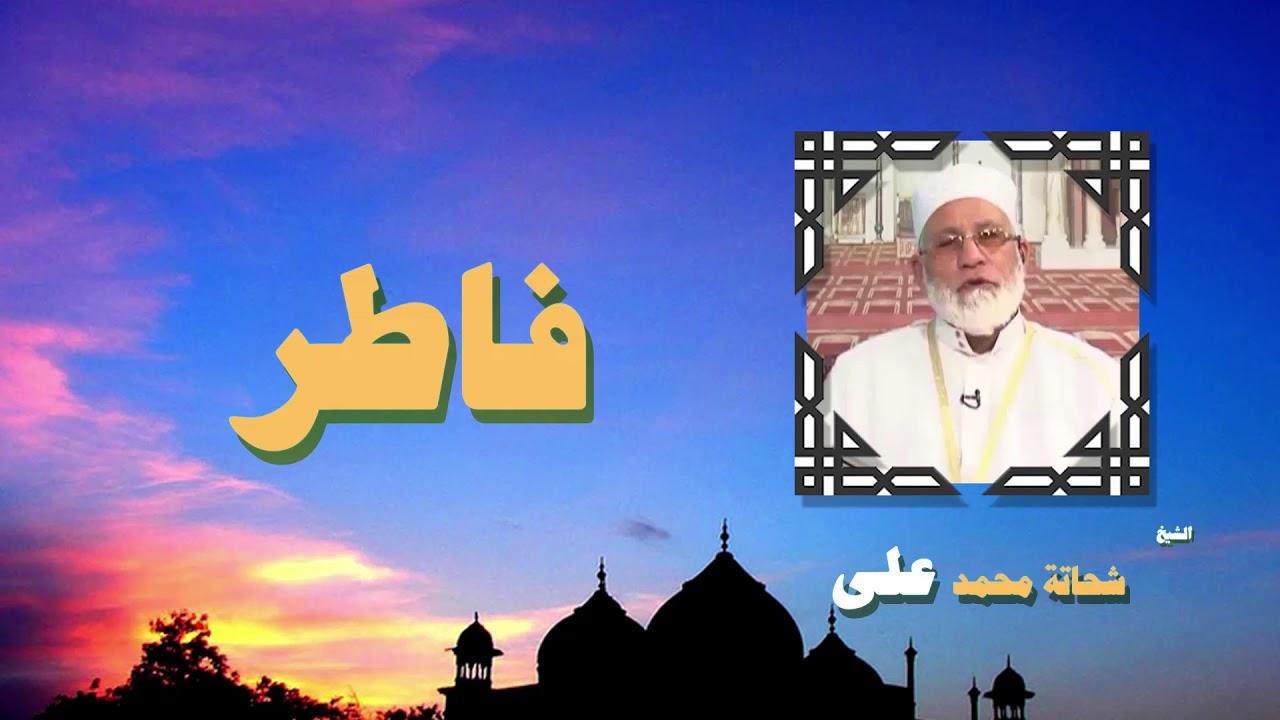 القران الكريم بصوت الشيخ شحاتة محمد على | سورة فاطر