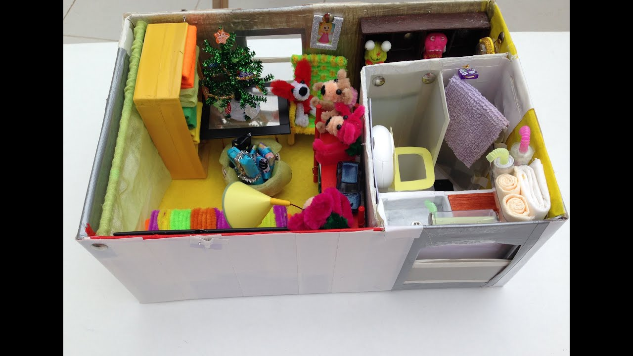 Kids Bedrooms Ideas How To Make A Shoebox Dollhouse Youtube