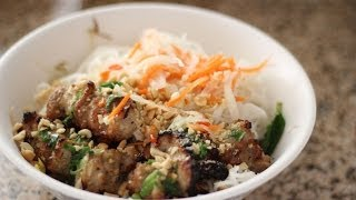 Vietnamese Grilled Pork With Vermicelli Noodles (bun Thit Nuong)