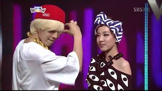 G-Dragon - Interview + HELLO (with DARA from 2NE1) @ SBS IDOL BIG SHOW