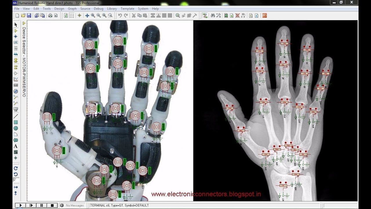Humanoid robotic arm or hand using arduino mega with