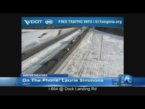VDOT on road conditions and preps for more snow