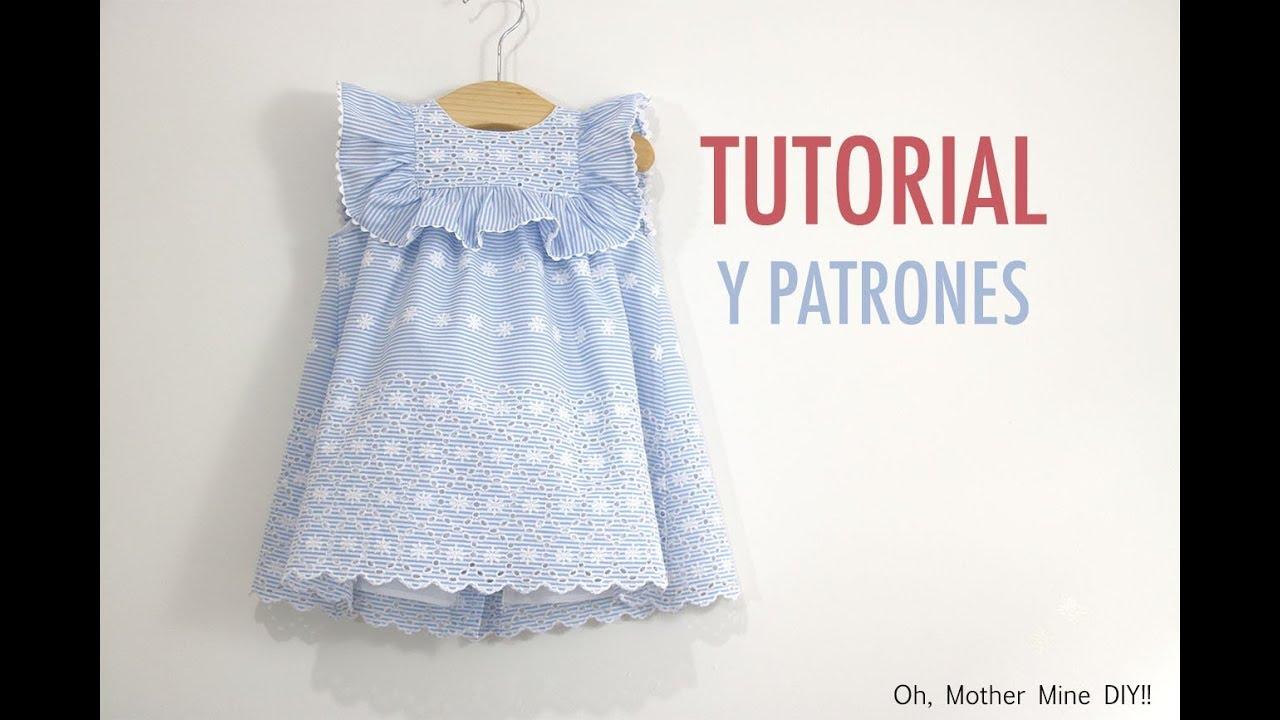 Costura vestido de rayas bordado para niñas (patrones gratis hasta ...