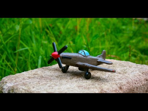 Как слепить из пластилина самолет P-51 Mustang. How to sculpt airplane from clay