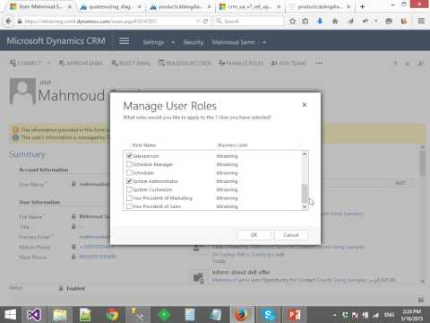 6- Dynamics CRM 2015 Administration and Security (Arabic)