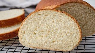 Батон ПШЕНИЧНЫЙ ХЛЕБ в домашних условиях Белый хлеб в духовке Рецепт хлеба для бутербродов