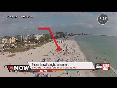 Beach Brawl On St. Pete Beach Was Captured By A Drone