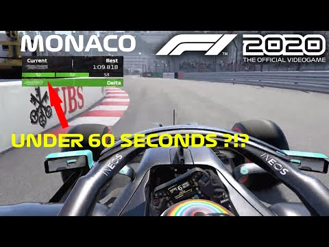 Driving Monaco Under 60 Seconds in F1 2020 Game !?! |