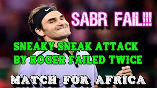 SABR FAIL!! Federer Tries Two Sneaky SABR's Against Murray in a row!