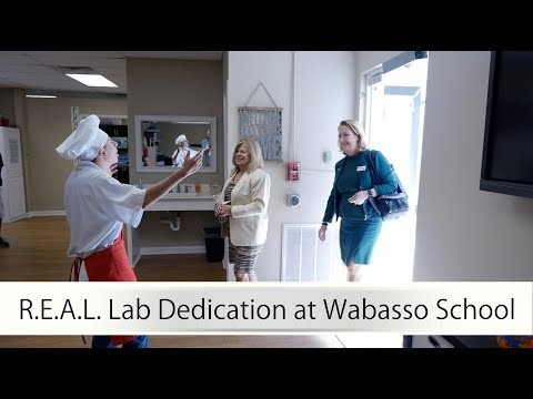 R.E.A.L. Lab Dedication at Wabasso School