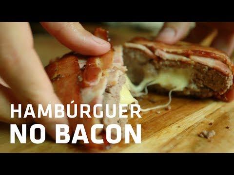 HAMBÚRGUER enrolado no BACON (INCRIVELMENTE GOSTOSO!) | Gourmet a dois