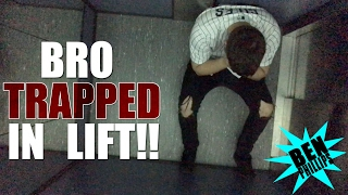 My Bro Got Stuck In An Elevator Prank!