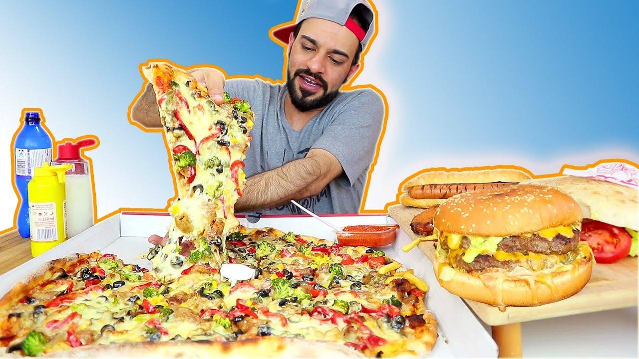 تحدي الوجبات السريعة العملاقة بمعدل ۱٦،۰۰۰ سعرة حرارية - Fast Food Challenge