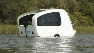 Sealander -- The Amphibious Trailer For Camping And Sailing [Embora essa mini-casda não seja para qualquer um, ao menos é possivel qualquer carro transportar  essa residencia móvel e se alojar tanto em terra quanto em água, adeus hotéis ]