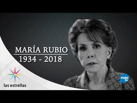 Gremio artístico lamenta la muerte de María Rubio | DE ÚLTIMO MINUTO