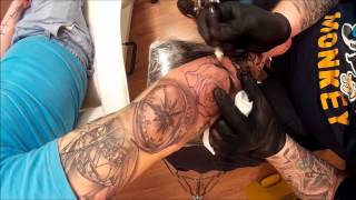 Black and Grey tattoo sleeve in progress by Lotus Tattoo