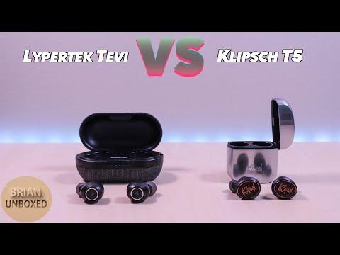 Lypertek Tevi vs Klipsch T5 - Can $90 earbuds compare to $200? (Music & Mic Samples)