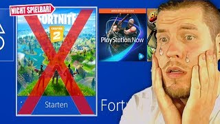 Fortnite auf Playstation 4 nicht spielbar :(
