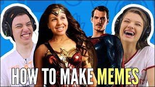 JOVENS REAGEM A HOW TO MAKE MEMES - HTMM