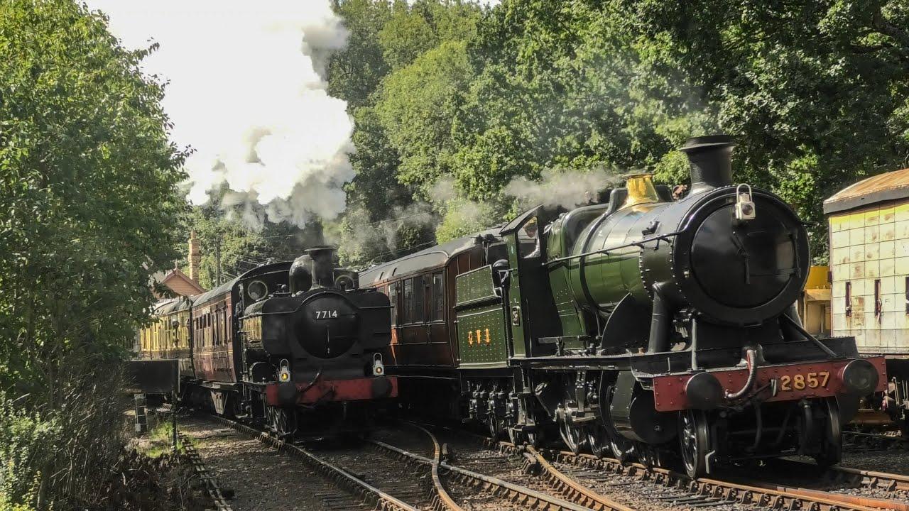 GWR 7714 & 2857 - Late Summer Steam Scenes - Severn Valley Railway