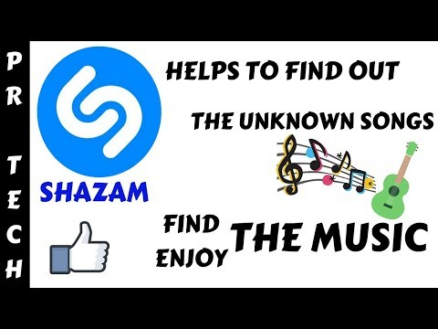 Shazam : Identify the unknown music or songs |How to use it.. |In Hindi|PR Tech's🔥🔥🎉